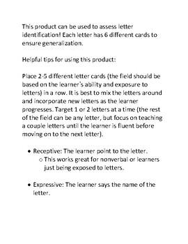Lowercase Letter Identification