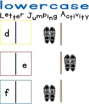 Lowercase Letter Jumping Activity
