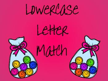 Lowercase Letter Match Cener