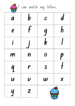 Lowercase Letter Match (NSW Foundation Font)