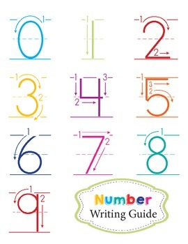 Lowercase Letter & Number Writing Guides