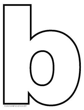 Lowercase Letter Outlines