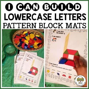 Lowercase Letter Pattern Block Mats