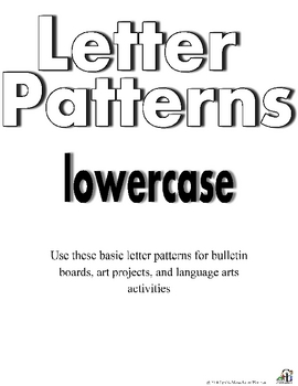 Lowercase Letter Patterns