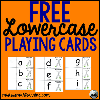 Lowercase Letter Playing Cards