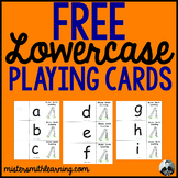 Free Lowercase Letter Playing Cards