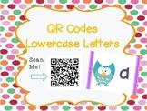 Lowercase Letter QR Codes