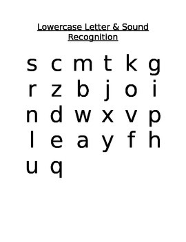 Lowercase Letter Recognition