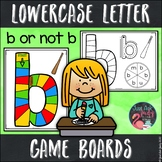 Lowercase Letter Recognition Game Boards
