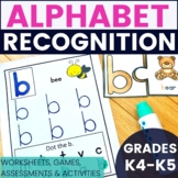 Letter Recognition - Worksheets, Centers, and Games