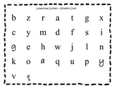 Lowercase Letter Recognition Test - student card