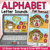Lowercase Letter Sounds Fall Back to School Theme