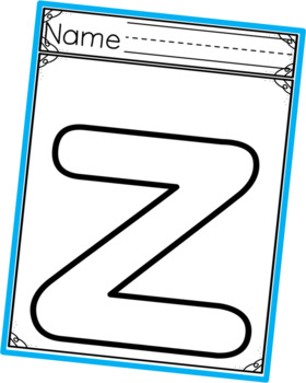 Lowercase Letter Template Outlines