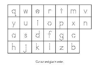 lowercase letter trace sort