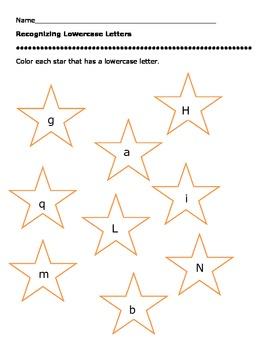 Lowercase Letter Worksheet