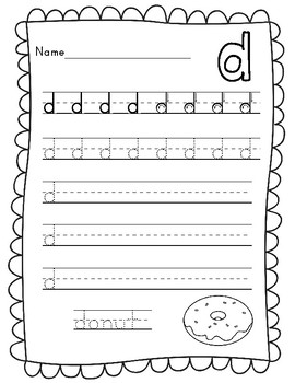 Lowercase Letter Writing