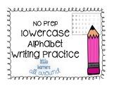 NO PREP Alphabet Lowercase Letter Writing