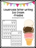 Lowercase Letter Writing (Ice Cream) -Freebie
