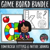 Lowercase Letters and Beginning Sounds Game Board Bundle