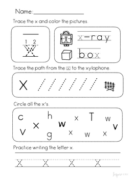 Lowercase Letter of the Day No-Prep Worksheets