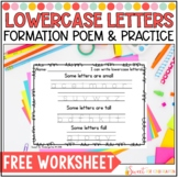 Lowercase Letters Handwriting Practice Pages