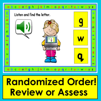 Boom Cards™ Letter Recognition Lowercase Task Cards- With Sound!