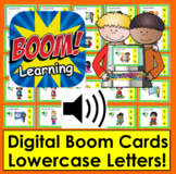 Boom Cards™ Alphabet Letter Recognition Lowercase Task Cards- With Sound!