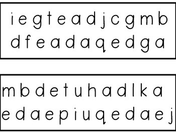Lowercase Letters Letter Naming Fluency Strips GREAT FOR RtI!