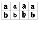 Lowercase Letters Mini-flashcards