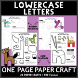 Lowercase Letters One Page Paper Crafts Set