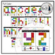 #countdowntosummer Lowercase Letters Snap Cube Mats: Alphabet Review from a to z