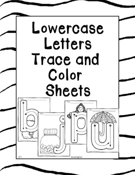 Lowercase Letters Trace and Color Sheets