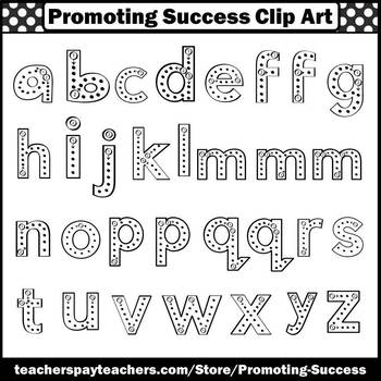 Lower Case Letters, Alphabet Clipart, Commercial Use SPS