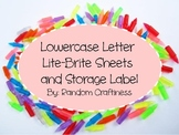 Lowercase Lite Brite Pages with Label