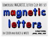 Lowercase Magnetic Letter Manipulatives Clip Art