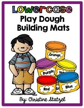 Lowercase Play Dough Building Mats