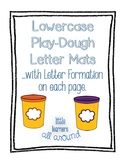 Lowercase Play-Dough Letter Mats