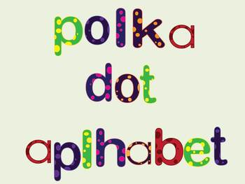 Lowercase Polka Dot Alphabet Letters