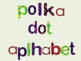 Lowercase Polka Dot Alphabet Letters