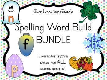 Lowercase Spelling Word Build Word Work BUNDLE