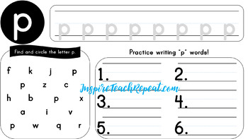 Lowercase Alphabet A-Z Writing Practice *Full Bleed Version*