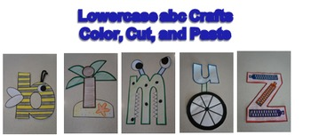 Lowercase abc letter crafts (Color, Cut, and Paste)