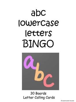 Lowercase alphabet BINGO!