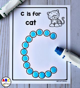 Lowercase Alphabet Dot Painting