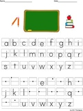 Lowercase alphabet practice sheets