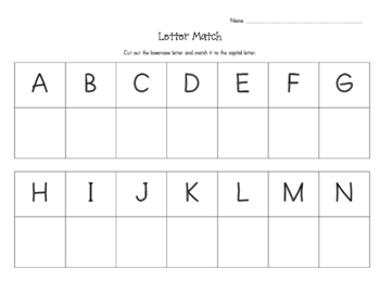 Lowercase and Capital Letter Match