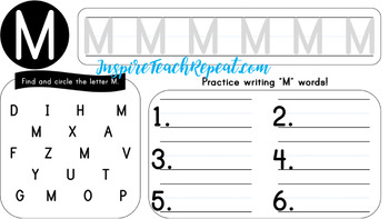Lowercase and Uppercase Alphabet A-Z Writing Practice Bundle