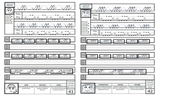 Lowercase and Uppercase Cursive Bundle