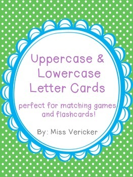 Lowercase and Uppercase Letter Cards FREEBIE