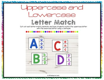 Lowercase and Uppercase Letter Clip Mat
